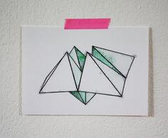 Origami Game 5x7 Print van fritzifranzen op Etsy, €7.00