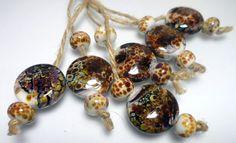 Lampwork.Glass bead handmade. Multikolor. by Glasskaramelka