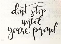 Dont stop until you