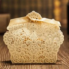 Lace Hollow Candy Gift Wedding Box - Wedding Look