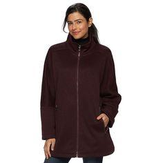 Women's d.e.t.a.i.l.s Sweater Fleece Poncho Jacket, Size: