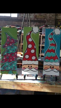 christmas art 18 Easy Christmas Canvas Painting Ideas for Kids - mybabydoo canvas painting for kids Noel Christmas, Simple Christmas, Winter Christmas, Christmas Ideas, Kids Christmas Art, Christmas Projects For Kids, Painting For Kids, Diy Painting, Painting Canvas