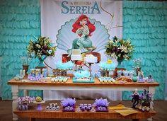 THE LITTLE MERMAID BIRTHDAY PARTY DECORATIONS A PEQUENA SEREIA ARIEL FESTA INFANTIL.30