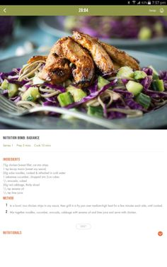 Chicken soba noodle salad Healthy Eating Recipes, Clean Recipes, Diet Recipes, Healthy Food, Recipies, Cooking Recipes, Turkey Recipes, Chicken Recipes, 28 By Sam Wood