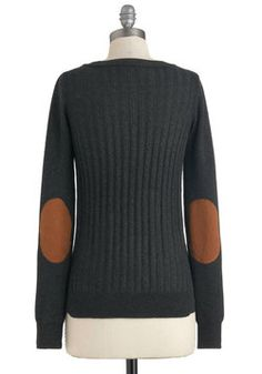 Late Night at the Library Sweater, #ModCloth    I've always wanted a sweater with elbow patches!