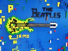 Play with our wall made of LEGO® bricks for your next stay! Submit the LEGO masterpieces you make at YOTEL to win! We post our favorites every Monday! #masterpiecemonday #yotel #yotelny #nyc #LEGO #play #mylegomasterpiece #Beatles #TheBeatles #guitar #music