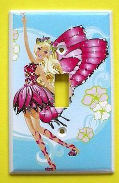 Barbie Mariposa Switch Plate switchplate . $9.49
