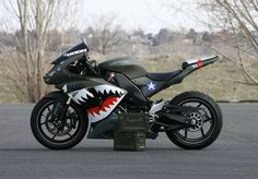 Ok, this is sweet, now I need to get one and have a friend ride one painted with a Japanese WWII paint job