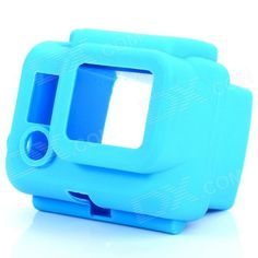 Brand: N/A; Model: HR53-BL; Quantity: 1; Color: Blue; Material: Silicone; Compatible Camera Models: Gopro Hero 3; Functions: Protects your device from scratches, dust and shock; Other Features: Soft, comfortable and bright color; Easy to find if dropping into water; Packing List: 1 x Case; http://j.mp/1BCfU6C