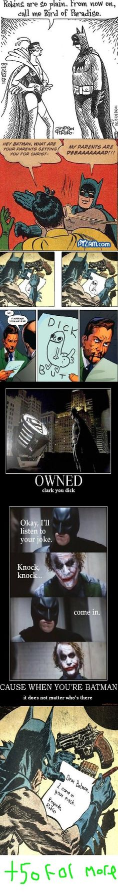 Batman funnies.