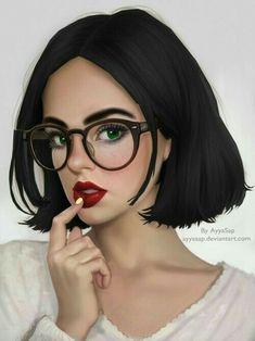 Cute Girl Drawing, Cartoon Girl Drawing, Girl Cartoon, Cartoon Art, Digital Art Girl, Digital Portrait, Foto Top, Girly M, Cute Couple Art