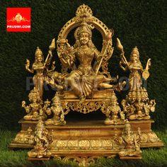 Durga Painting, Hindu Statues, Lord Shiva Family, Goddess Lakshmi, God Pictures, Hindu Art, Ganesha, Sai Ram, Hindu Deities