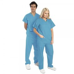 This basic Budget Scrubs unisex set or scrub suit is great for kitting out your department.These hospital scrubs are made from lightweight fabric consisting of a polyester and a cotton mix. This Budget Scrubs scrub suit is basic & does the job. Medical Scrubs, Scrub Tops, Colorful Fashion, Budgeting, Trousers, Jumpsuit, Unisex, Cotton, Florence Nightingale