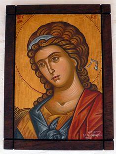 αγιογραφία αγγελος - Αναζήτηση Google Byzantine Icons, Byzantine Art, Religious Icons, Religious Art, Archangel Gabriel, Orthodox Icons, Religion, Sketches, Hand Painted