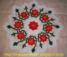 Christmas doily with diagram