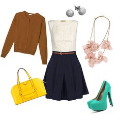 fun work outfit, created by jenn-ashlie on Polyvore