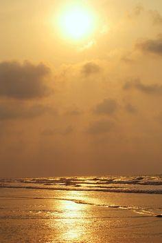 Water, Sky, Beach, Sea, Clouds, Cloud, Sunrise, Golden