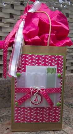 Gift Bag - what to do with the card besides tucking it inside