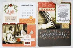 November 2014 Layout by Melissa Phillips for Papertrey Ink (November 2014)