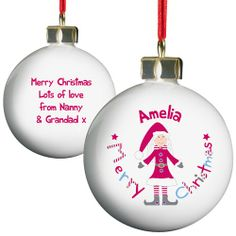 Personalised Christmas Bauble - Mrs Santa  from Personalised Gifts Shop - ONLY £10.99