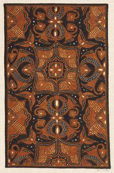 Sample of cotton batik with design of floral motifs in light brown and natural ecru on a dark blue ground. Textiles, Textile Patterns, Textile Art, Batik Pattern, Pattern Art, Pattern Design, Batik Solo, Batik Art, Batik Fashion