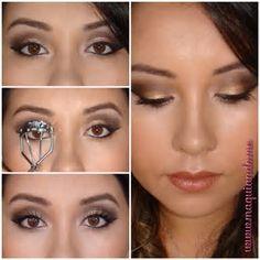 Resultado de imagem para passo a passo de maquiagem preta e marrom