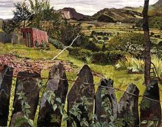 Stanley Spencer, (English painter, 1891 – 1959) Landscape in North Wales
