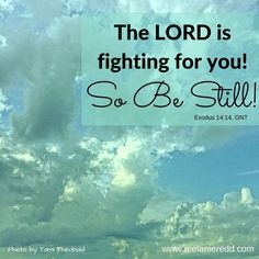 """""""The LORD is fighting for you! So be still"""" Exodus 14:14"""