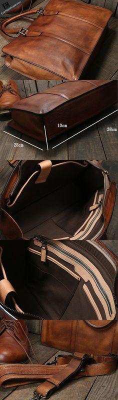 a7376119243 Handmade leather men Briefcase messenger large vintage shoulder laptop bag  vintage bag Leather Wallet, Leather