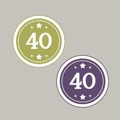 40, Zahl, Geburtstag, Kreis, Stampin´Up! Stempeln, Craft, basteln, stampin https://www.facebook.com/Colorspell