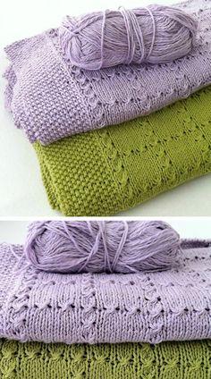 Crotchet Patterns, Baby Knitting Patterns, Knitting Stitches, Free Knitting, Manta Crochet, Knit Or Crochet, Knitted Baby Blankets, Baby Blanket Crochet, Knitting Projects