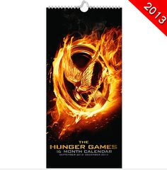 This Hunger Games 16 Month Calendar runs from September 2012 to December 2013 and features images from The Hunger Games movie. Hunger Games Merchandise, Hunger Games Movies, Mocking Jay, Hunger Games Catching Fire, December 2013, Film Music Books, Calendar, Goals, Image