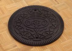 Oreo Manhole Cover. Thats awesome.