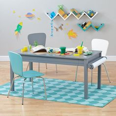 Extracurricular Complete Play Table Set (Grey) in Play Tables | The Land of Nod
