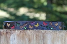 leather butterfly dream and believe by TBTOBEDESIGNED1 on Etsy