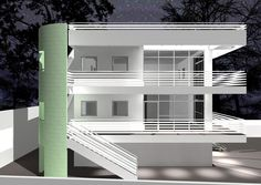 02_Project for a private residence_Italy - Sicily - Agrigento. (Central perspective rendering views)