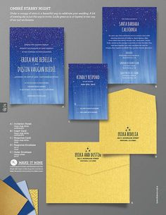 Ombre' Starry Night Wedding Invitation by ThingsandStuffEvents