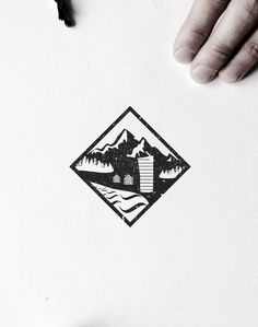 VISLA Graphic - illustration and logo design  --  nature / river / mountain / wild