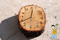 No se necesitan muchos recursos para conseguir un patio del colegio precioso. Aprovecha los elementos de la naturaleza para construir un bonito reloj de sol.
