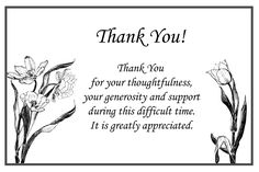64 best funeral thank you cards images on pinterest funeral thank