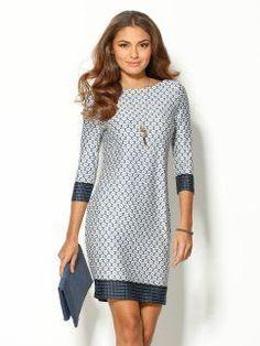 Vestido mulher manga 3/4 sleeve dress
