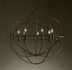 | Copy Cat Chic | chic for cheap: Restoration Hardware Foucault's Iron Orb Chandelier