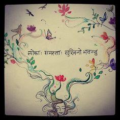 Image result for lokah samastah sukhino bhavantu tattoo