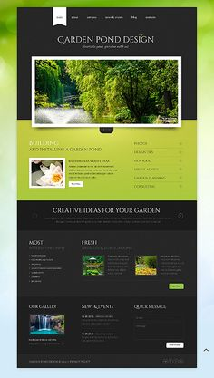 Check Out This Garden Design Responsive Website Template ( And You Might  Fall In Love With It. Clean, Professional And Simple Design.