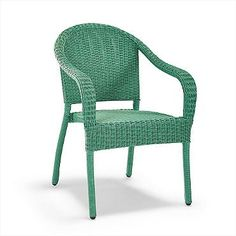 Set of Two Cafe Stacking Arm Chairs $299in green, blue, orange