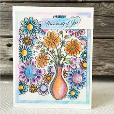 Easy Coloring Page Card: National Craft Month Project & Giveaways