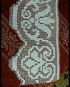 Crochet Edging Patterns, Filet Crochet Charts, Crochet Borders, Crochet Lace, Crochet Stitches, Knitting Patterns, Pinterest Crochet, Baby Witch, Viking Tattoo Design