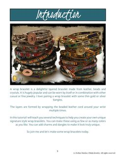 Tutorial to make Wrap Bracelet. Beadwork Pattern Leather