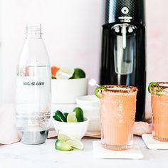 Recipes : SodaStream Canada Soda Stream Recipes, Water Recipes, Tequila, Canada, Grapefruit Juice, Holiday Cocktails, Lime Juice, Cocktail Recipes, Fresh Fruit