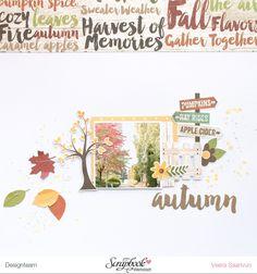 Autumn - another layout with Scrapbook Werkstatt's November kit - V-tyylillä